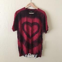 15% OFF CODE PICKSOON AMIRI Tie Dye Heart Lovers Red T-Shirt Tee S $325 NEW
