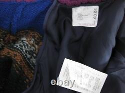 $1785 Sacai NEW Combo Chunky Knit Shawl Collar Draped Cardigan Wool Blazer 2JP