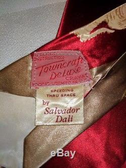 1940s 40s 1950s RARE SALVADOR DALI'SPEEDING THRU SPACE' TOWNCRAFT DELUXE TIE