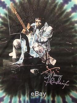 1967 Rare Vtg Jimi Hendrix Foxy Lady Shirt L Psychedelic Colorful Guitar Tie Dye