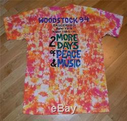 1994 WOODSTOCK vtg concert tie-dye shirt (L) Blind Melon, Bob Dylan, Metallica