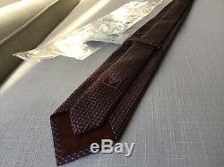 $200 NWT GUCCI TIE 57 X 3 Burgundy Maroon Multi-Color GUCCISSIMA GG LOGO