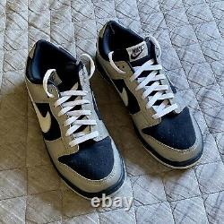 2003 Nike Dunk Low Pro Dark Obsidian with Reflective 3M Silver Size 10 Preowned