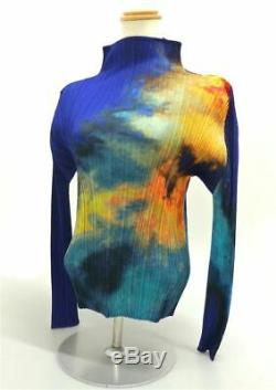 2006SS PLEASE PLEASE ISSEY MIYAKE Shirt Blouse Tie-dye Pattern Multi-Color Size3