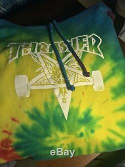 2010 Thrasher Tie dye Hoodie Skate Tyler the Creator Very Rare Golf Wang OFWGKTA