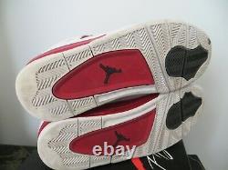 2016 Nike Air Jordan 4 IV Alternate Bulls Retro Chicago Bred White/Red Size 11.5