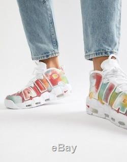 2018 Nike Air More Uptempo Retro QS UK Multicolor Size 14. AV3809-700 Tie Dye