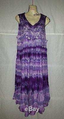 ++ 25 Piece Lot Multi Color Tie Dye Casual Viscose Rayon Sundress WHOLESALE LOT