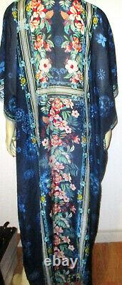 $278 NWT JOHNNY WAS Anna Long Kaftan Dress M