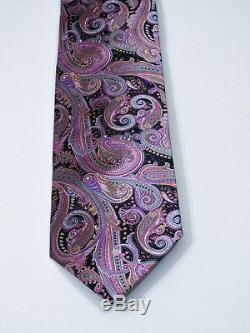 $280 BEAUTIFUL BRIONI Paisley Italian Extra Fine Silk Necktie L 62 X W 3.5