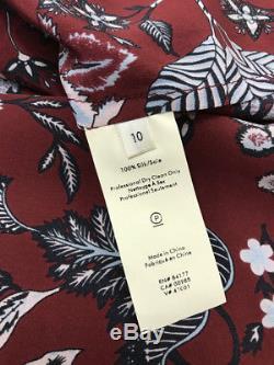 $498 BRAND NEW DIANE VON FURSTENBERG Flutter Sleeve Front Tie Wrap Dress