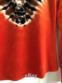 $535 Proenza Schouler Tie Dye Orange Velvet Turtleneck Top Sweater La Garconne M