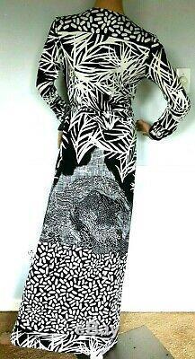 $598 Diane von Furstenberg DVF Georgina Palm Abigail Long Maxi Wrap Gown Dress 2