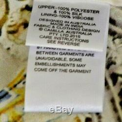 $600 Camilla Franks Sea Odyssey Tie Back Dress Open Back Kaftan Jacket Medium 2