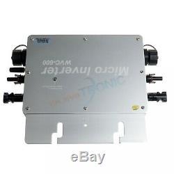 600W MPPT Waterproof Solar Grid Tie Inverter DC to AC Solar Grid Power Inverter