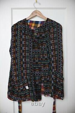 ACE & JIG Sail Cardi Cotton Jacket in Dream reverses to Kaleidoscope size S new