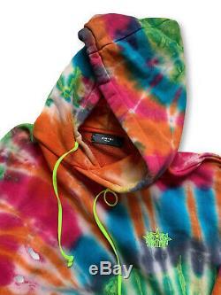 AMIRI Star Embroidered Tie Dye Hoodie Medium