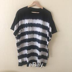 AMIRI Tie Dye Striped Black White T-Shirt Tee Sz XXL Made in USA MTSSTTDS NEW