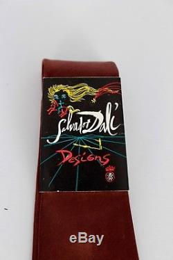 AUTH. VTG. NEW OLD STOCK With TAG SALVADOR DALI LADY & THE FLAME ALL SILK TIE