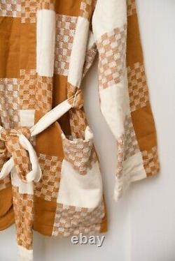Ace & Jig Alexa Cardi belted open cotton jacket in Clove Size 1X
