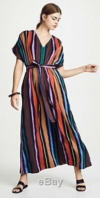 Ace & Jig rainbow stripe Ribbon Candy Fete dress with tie belt in size XS