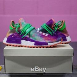 Adidas PW Hu Holi NMD MC Human Race Chalk Coral Tie Dye AC7034 Pharrell Size 8.5