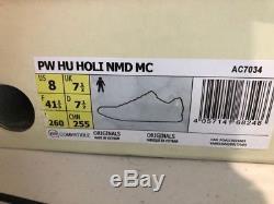 Adidas PW Hu Holi NMD MC Human Race Chalk Coral Tie Dye AC7034 Pharrell Sz 8 US