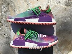 Adidas Pharrell Williams HUMAN RACE CORAL NMD Hu Holi Pink Tie Dye Size 11