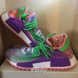 cc7be0e903b84 Adidas X Pharrell Williams Human Race Coral Size 9.5 Nmd Hu Holi Pink Tie  Dye