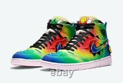 Air Jordan 1 J. Balvin, Multicolor Tie-Die, Size 10, New With Box