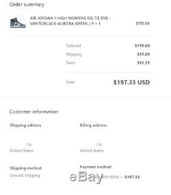 Air Jordan 1 Retro High OG Tie-Dye Size 9 US Women's (CONFIRMED ORDER)