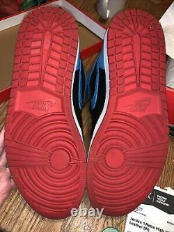 Air Jordan 1 Retro High OG Wmns 13.5/Mens 12 CD0461046 Black/dk Powder Blue/red