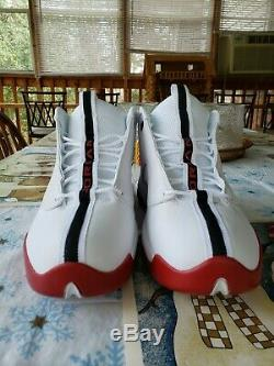 Air Jordan Jumpman Pro Quick New Size 13 White Black Gym Red 932687 101