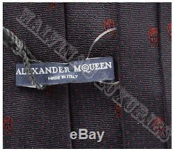 Alexander Mcqueen Tie Iconic Skulls & Polka Dots Print Silk