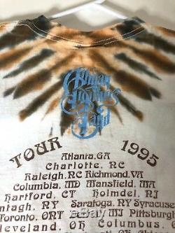 Allman Brothers Vintage T shirt Collectible Concert Tour 1995 Tie Dye XL