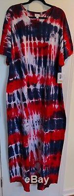 American Dreams Tie Dye LuLaRoe Unicorn Maria 3XL XXXL HTF