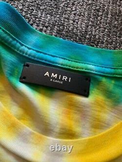 Amiri Rainbow Tie Dye T-Shirt Jersey Size XL 100% Authentic