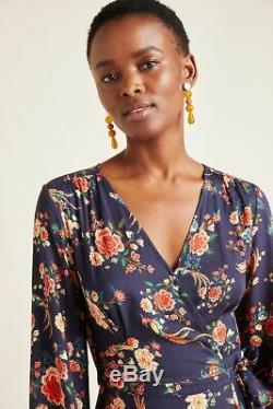 Anthropologie Farm Rio Gracia Wrap Maxi Dress Size L NWT