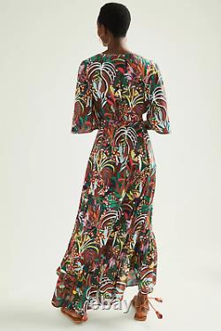 Anthropologie New Farm Rio Fiesta Multicolor Wrap Maxi Dress Size M NWT
