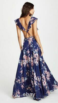 Anthropologie Yumi Kim Full Bloom Botanical Garden Wrap Maxi Dress Size Xs $288
