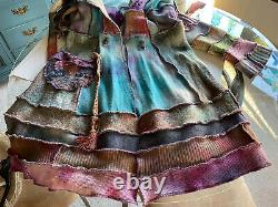 Art To Wear Tie Dye Coat Upcycled Wearable Art