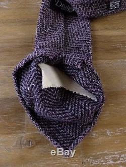 Auth DRAKE'S Drakes London wool mostly unlined tie NWOT