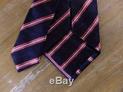 Auth ERMENEGILDO ZEGNA COUTURE striped silk tie NWT