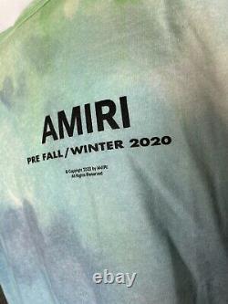 Authentic AMIRI Watercolor Tie Dye Graphic T-shirt Size Large