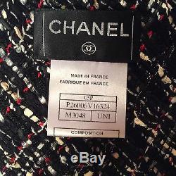 Authentic Chanel Fantasy tweed oversized tie/sash/scarf/05P