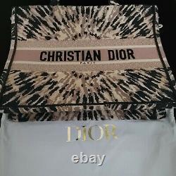 Authentic Dior Book Tote Bag Tie Dye Canvas Print
