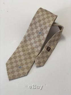 Authentic Louis Vuitton 100% Silk Neck Tie Damier Monogram