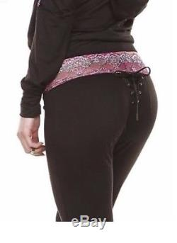 Beach Bunny Swimwear Hoodie & Lounge Pant SNAKE PRINT LACE Tie Back 2pc SET S