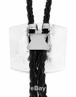 Beautiful Handmade Zuni Sterling Silver Multi Color/Stone Bolo Tie D&N Edaakie