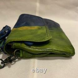 Bed Stu Andie Dip Dye Shoulder Ziggy Bag With Flap Tie Dye Woodstock NWT RARE